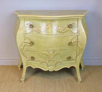 Vintage Italian Painted Bombe Commodes Harrods (5 of 10)