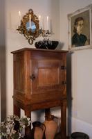 17th Century Oak Pot Cupboard with Open Shelf Below (3 of 15)