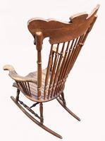 Lovely Quality 19th Century Mahogany Rocking Chair (4 of 4)