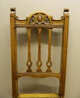 Set of 4 oak Arts & Crafts dining chairs (4 of 5)