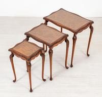 Pretty Queen Anne Style Nest of 3 Tables c.1930 (6 of 8)