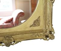 Gilt 19th Century Large Overmantle Wall Mirror (4 of 6)