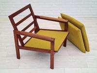 "Danish Design by Illum Wikkelsø Armchair ""Capella"" Series, 70s, Teak, Renovated-reupholstered (6 of 13)"