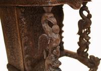 Burmese Davenport Desk Antique Hand Caved Burma Furniture 1885 (6 of 11)