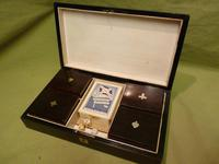 French Inlaid Rosewood Games Box + Accessories c.1880 (11 of 11)