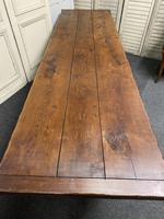 Long French Oak Farmhouse Dining Table (12 of 17)