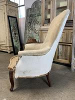Antique French Balloon Back Armchair (4 of 6)