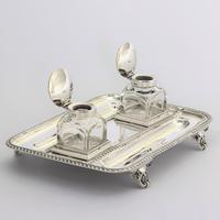 Quality Silver Inkstand with Twin Inkbottles by Elkington & Co. 1898 (8 of 12)