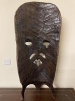 Huge African Hand Carved Free Standing Mask (5 of 6)