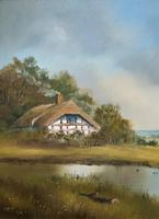 Lovely 'Chocolate Box Quality' Vintage 20thc English Landscape Oil Painting (12 of 15)