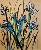 Large Beautiful 1958 Vintage Impressionist Floral Still Life Oil Painting (2 of 12)