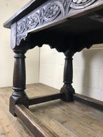 Antique Oak Refectory Table with Plank Top (3 of 12)