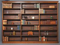 Large Victorian Oak Open Bookcase (2 of 8)