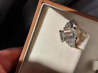 Vintage Deco Design 2.81 Carat Emerald Cut Diamond & Platinum Ring (8 of 10)