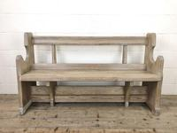 Antique Pine Chapel Pew Bench (2 of 9)