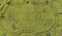 Rare Miniature Fusee Verge Bracket Mantle Clock - Made by John Johnson, London (11 of 12)