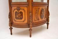 Antique Italian Walnut Display Cabinet (4 of 11)