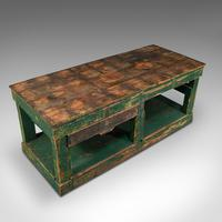 Large Antique Factory Work Table, English, Pine, Industrial, Mill, Victorian (7 of 10)