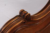 Lovely Quarter Veneer Louis XV Style Double Bed (5 of 10)