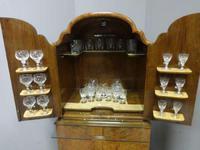 Super Quality Burr Walnut Cocktail Cabinet (3 of 12)