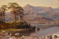 """Oil Painting by Charles Pettitt """"early Morning, Coniston Lake and Mountains, North Lancashire"""" (3 of 6)"""