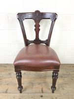 Set of Four Victorian Mahogany Dining Chairs (4 of 7)
