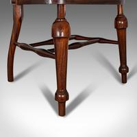 Antique Captain's Chair, English, Mahogany, Armchair, Seat, Edwardian c.1910 (4 of 12)