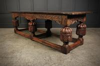 Large 18th Century Carved Oak Dining Table (10 of 21)