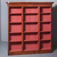 Antique Victorian Mahogany Tall Open Bookcase (3 of 7)