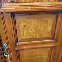 Antique Edwardian Satinwood Bedside Table Night Stand (2 of 7)