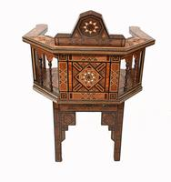 Pair of Damascan Chairs Inlay Arabic Syrian Interiors c.1920 (12 of 12)