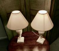 Pair of Art Deco Marble Table Lamps (2 of 5)