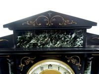Fine Slate & Marble Mantel Clock 8 Day Striking Mantle Clock (9 of 9)
