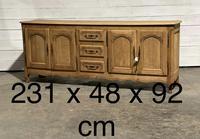 French Bleached Oak Sideboard or Dresser Base (23 of 23)