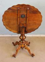 Antique Burr Walnut Shaped Occasional Table (7 of 9)