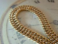 Pocket Watch Chain 1930s 12ct Rose Rolled Gold Double Albert With T Bar (6 of 12)