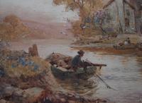 Walter Stuart LLOYD Fishing Village c1900 Watercolour (4 of 5)