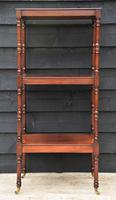 Fine Quality 19th Century Georgian Mahogany Three Tier Whatnot / Display Stand / Shelves. (9 of 11)