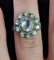 Antique Georgian Pink Topaz Cluster Ring, 18ct Gold, Foiled Paste (11 of 12)