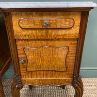 Pair of Hungarian Ash Antique Bedside Cabinets (3 of 6)