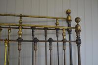 Victorian Brass & Iron King Size 5ft Antique Bed Frame - Fully Restored in Your Choice of Colour (13 of 15)