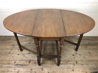 Early 20th Century Oak Gateleg Table (6 of 9)