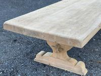Huge French Bleached Oak Farmhouse Dining Table (13 of 34)