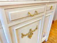 French Oak Sideboard / Buffet / Cupboard Topped in Statuario Marble (9 of 10)