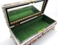 Quality Victorian Anglo Indian Antique Vizagapatam Trinket Jewellery Box Casket, 19th Century India (5 of 11)