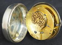 Great Antique Silver Pair Case Pocket Watch Fusee Verge Escapement Key Wind Enamel Dial Johnson London (2 of 10)
