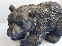 Large Detailed Vintage Bronze Grizzly Bear c1940s (4 of 10)