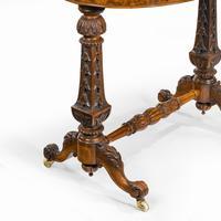 Victorian Walnut & Pietra Dura Table (7 of 16)