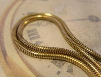 Vintage Pocket Watch 1940s Long 12ct Rolled Gold Snake Link Albert With Button Clip (5 of 12)