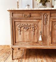French Antique Oak Cupboard / Cabinet with Marble (10 of 10)